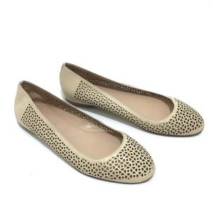 J Crew Made in Italy Nora Perforated Ballet Flats